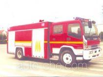 海潮牌BXF5150GXFPM50型泡沫消防车