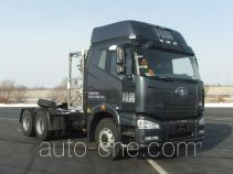Natural gas container tractor unit