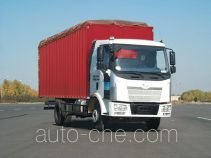 FAW Jiefang diesel cabover box van truck with canopy top