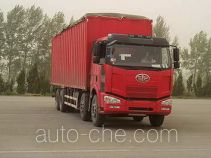 FAW Jiefang CA5240XXYP63K2L6T4A2E1 diesel cabover box van truck with canopy top