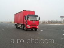 FAW Jiefang CA5240XXYP66K2L7T4A2E diesel cabover box van truck with canopy top