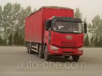 FAW Jiefang CA5310XXYP63K2L6T4A2E1 diesel cabover box van truck with canopy top