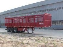 恒通梁山牌CBZ9401CCY型仓栅式运输半挂车