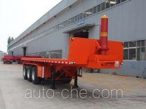 Hengtong Liangshan CBZ9401ZZXP flatbed dump trailer