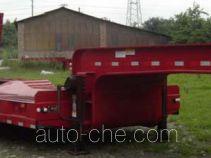 大运牌CGC9350TDP型低平板半挂车