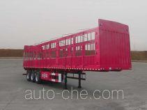 大运牌CGC9360CCY357型仓栅式运输半挂车