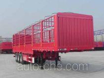 大运牌CGC9401CCY368型仓栅式运输半挂车
