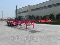 大运牌CGC9401TJZ386型集装箱运输半挂车