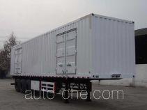 大运牌CGC9401XXY型厢式运输半挂车