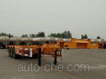 兆鑫牌CHQ9400TWY型危险品罐箱骨架运输半挂车