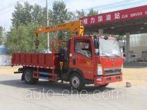 程力威牌CLW5040JSQZ4型随车起重运输车
