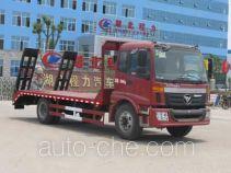 程力威牌CLW5161TPB4型平板运输车