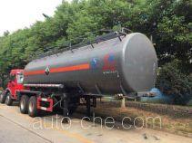 程力威牌CLW9350GFW型腐蚀性物品罐式运输半挂车