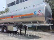 程力威牌CLW9350GYYL型铝合金运油半挂车