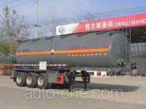 Chengliwei CLW9400GFWA corrosive materials transport tank trailer