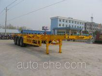 程力威牌CLW9400TJZG型集装箱运输半挂车