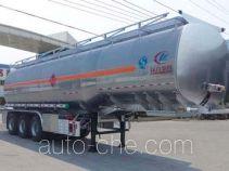 程力威牌CLW9401GYYL型铝合金运油半挂车