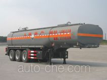 Chengliwei CLW9402GFW corrosive materials transport tank trailer