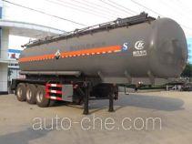 程力威牌CLW9402GFWC型腐蚀性物品罐式运输半挂车