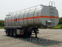 程力威牌CLW9404GRYL型铝合金易燃液体罐式运输半挂车