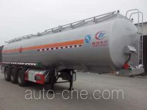 程力威牌CLW9409GRYA型易燃液体罐式运输半挂车