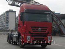 SAIC Hongyan CQ4254HTWG323C container transport tractor unit