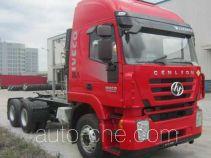 SAIC Hongyan CQ4256HTG384TVU dangerous goods transport tractor unit