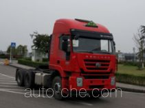 SAIC Hongyan CQ4256HTVG334U dangerous goods transport tractor unit