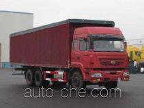SAIC Hongyan CQ5254XXYSMG384P soft top box van truck