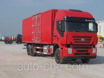 SAIC Hongyan CQ5255XXYHTG594 box van truck