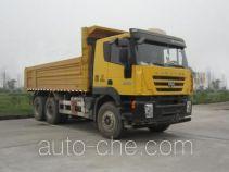 SAIC Hongyan CQ5255ZLJHMDG384L dump garbage truck