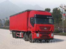SAIC Hongyan CQ5315CPYHMG466V soft top box van truck