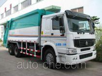 Heyun back-loading garbage compactor truck (packer truck)
