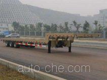 红岩牌CQZ9280TDP型低平板半挂车