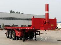 红岩牌CQZ9400ZZXP型平板自卸半挂车