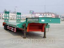 梁山东岳牌CSQ9281TDPA型低平板运输半挂车