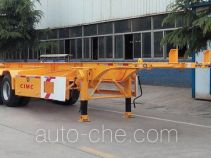 梁山东岳牌CSQ9353TJZ型集装箱运输半挂车