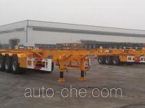 梁山东岳牌CSQ9354TJZ型集装箱运输半挂车