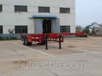 Wanqi Auto CTD9350TWY dangerous goods tank container skeletal trailer