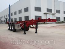 Wanqi Auto CTD9400TWY dangerous goods tank container skeletal trailer