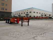 Wanqi Auto CTD9404TWY dangerous goods tank container skeletal trailer