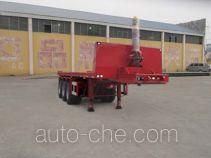 通亚达牌CTY9400ZZXP型平板自卸半挂车