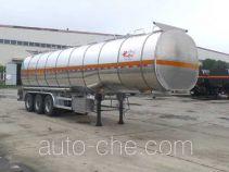 JAC Yangtian flammable liquid aluminum tank trailer
