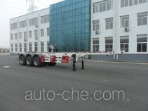 Huanghai DD9400TGY high pressure gas long cyllinders transport skeletal trailer