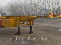 齐鲁中亚牌DEZ9150TJZK型空载集装箱运输半挂车