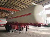 齐鲁中亚牌DEZ9400GFW型腐蚀性物品罐式运输半挂车