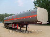 齐鲁中亚牌DEZ9400GRYB型易燃液体罐式运输半挂车