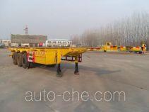 齐鲁中亚牌DEZ9400TJZ型集装箱运输半挂车