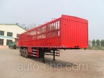 齐鲁中亚牌DEZ9402CCY型仓栅式运输半挂车