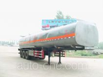 齐鲁中亚牌DEZ9402GRY型易燃液体罐式运输半挂车